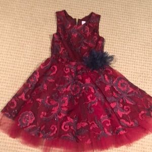 Embroidered Zoe party dress